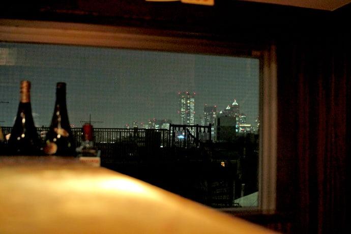 カウンターからの眺望